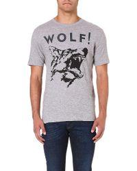 Diesel T-Kesar Cotton-Jersey T-Shirt - For Men gray - Lyst