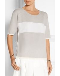 Duffy - Striped Cashmere Top - Lyst