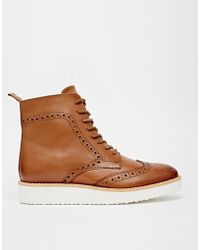 Asos Alby Leather Ankle Boots - Lyst