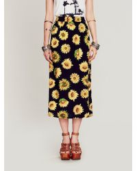 Free People Lax Print Skirt - Lyst