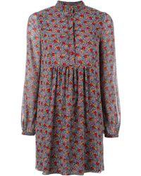 Saint Laurent | Prairie Button Dress | Lyst