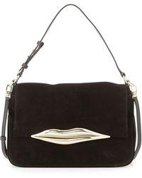 Diane Von Furstenberg Flirty Suede Shoulder Bag - Lyst