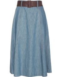 Miu Miu Denim Skirt - Lyst