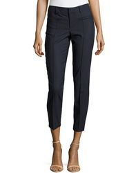 Helmut Lang Pickstitch Stovepipe Trousers - Lyst