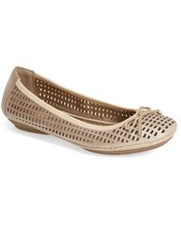Me Too 'Farrah' Perforated Leather Ballet Flat - Lyst