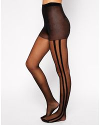 Asos Tights with Side Stripe - Lyst