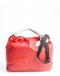 Furla Flame Red Leather Side Zipper Elizabeth Convertible Hobo Bag - Lyst