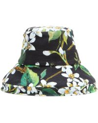 Dolce & Gabbana Printed Cotton Hat - Lyst