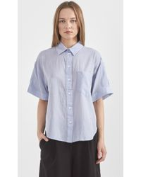 Band of Outsiders Cotton Dressing Grandpa Shirt - Lyst
