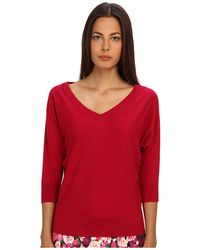 Kate Spade Red Dolman Sweater - Lyst