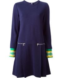 Marc By Marc Jacobs Contrast Cuff Sweater Dress - Lyst