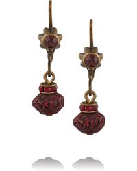 Isabel Marant Stromboli Brass and Wood Earrings - Lyst