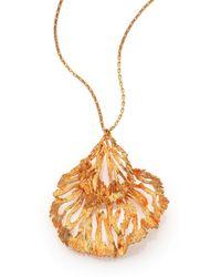 Alexander McQueen Fish Pendant Necklace gold - Lyst
