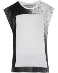 Balenciaga Spray-Print Cotton Tank Top - Lyst