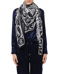 Matthew Williamson Wing Lace Black Modal Cashmere Large Scarf - Lyst