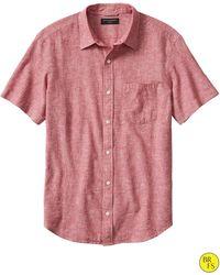 Banana Republic Factory Short-Sleeve Linen/Cotton Shirt - Lyst