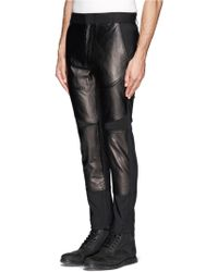 3.1 Phillip Lim Leather Panel Tailored Pants - Lyst