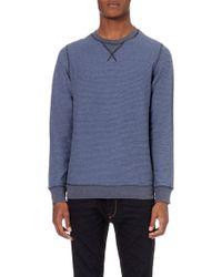 Diesel P-Lisse Ottoman Fleece Sweatshirt - For Men blue - Lyst