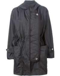 Sonia by Sonia Rykiel Hooded Parka black - Lyst
