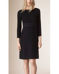 Burberry | English Lace-Detailed Dress | Lyst
