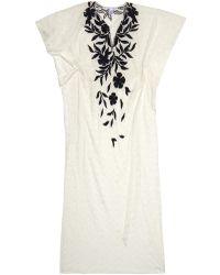 Oscar de la Renta Embroidered Lace Evening Gown - Lyst