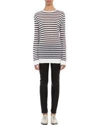 T By Alexander Wang Striped Long Sleeve Tee - Lyst