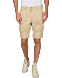 Scotch & Soda Bermuda Shorts beige - Lyst