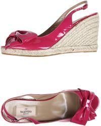 Valentino Espadrilles pink - Lyst