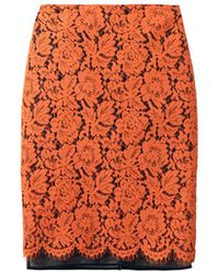 MSGM Lace Pencil Skirt - Lyst