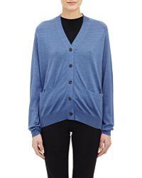 Jil Sander Fine-Gauge Sweater blue - Lyst