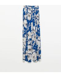 Zara Printed Trousers - Lyst