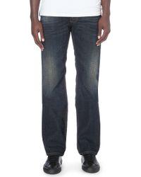 Diesel Larkee Regular-fit Straight Jeans Blue - Lyst