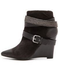 Joe's Jeans Andy Studded Wedge Booties  Black - Lyst