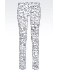 Emporio Armani Super Skinny 5-Pocket Trousers In Super Stretch Twill - Lyst