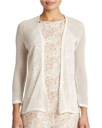 Tommy Bahama - Linen And Cotton Blend Cardigan - Lyst