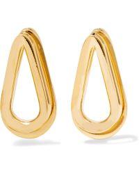 Annelise Michelson - Double Ellipse Gold-plated Earrings - Lyst