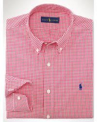 Polo Ralph Lauren Slim-Fit Gingham Sport Shirt - Lyst