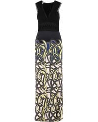 Yigal Azrouël | multicolor Pop Art Vines Printed Lace Front Gown | Lyst