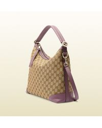Gucci Miss Gg Original Gg Canvas Hobo - Lyst