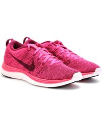 the best attitude b2109 2ccca womens nike flyknit lunar 1 red pink