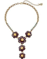 Betsey Johnson | Spring Ahead Flower Y-necklace | Lyst
