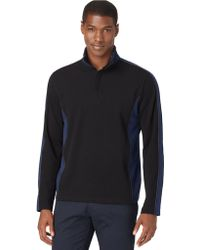 Calvin Klein 14 Zip Pique Fleece Pullover - Lyst