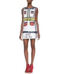 Alice + Olivia Love Is in The Air Sketched Shift Dress - Lyst