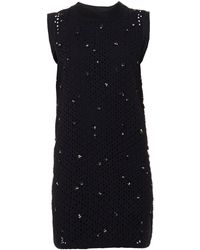 Vanessa Bruno Athé Baya Embellished Broderieanglaise Dress - Lyst