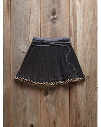 Free People Vintage Pleated Wrap Skirt - Lyst