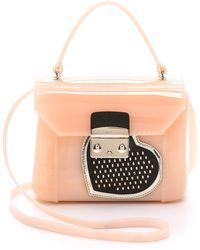 Furla Heart Print Candy Bon Bon Mini Bag - Magnolia And Onyx - Lyst
