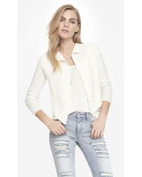 Express Cropped Back Wool Blend Cover-up - Lyst