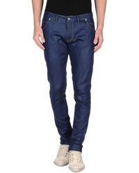 Paolo Pecora Denim Trousers blue - Lyst