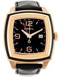 Breil - Orchestra Crocodileembossed Rose Gold Watch - Lyst