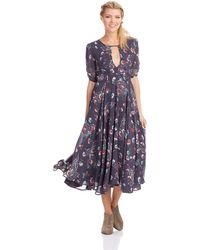 Free People Blue Bonnie Dress - Lyst